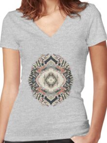 Radial Typography  Women's Fitted V-Neck T-Shirt