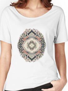 Radial Typography  Women's Relaxed Fit T-Shirt