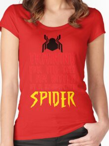 Training For The Day I Am Bitten By A Radioactive Spider MCU Tank Top Women's Fitted Scoop T-Shirt
