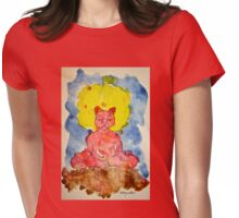 RED ZAZEN CAT Womens Fitted T-Shirt