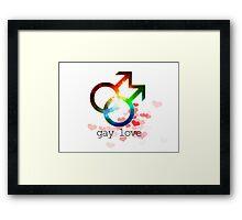 Gay love unisex genderbender gender fluid love wins Framed Print