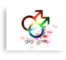 Gay love unisex genderbender gender fluid love wins Canvas Print