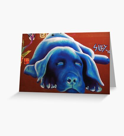 Blue Cooch Greeting Card