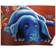 Blue Cooch Poster