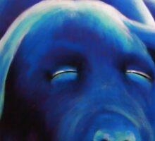 Blue Cooch Sticker
