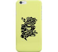 Happy Squiggles - 1-Bit Oddity - Black Version iPhone Case/Skin