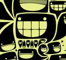 Happy Squiggles - 1-Bit Oddity - Black Version Sticker