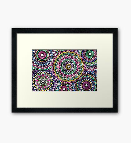 Bright Coloured Mandala Framed Print