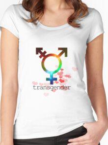 Transgender pride flag, gay love, lesbian love Women's Fitted Scoop T-Shirt
