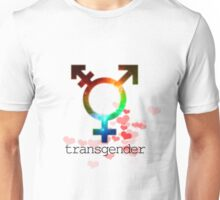 Transgender pride flag, gay love, lesbian love Unisex T-Shirt