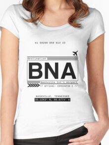 BNA Nashville International Airport Call Letters Women's Fitted Scoop T-Shirt