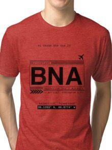 BNA Nashville International Airport Call Letters Tri-blend T-Shirt
