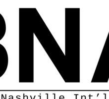 BNA Nashville International Airport Call Letters Sticker