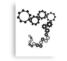 gears machine clockwork turn mechanically Canvas Print