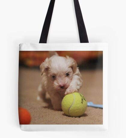 Jagger with Tennis Ball Tote Bag