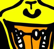 Iron Chimp Yellow Sticker