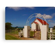 New Zealand Country Church Canvas Print
