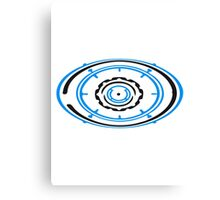 gear circular globe pattern design technology swirls cool futuristic Canvas Print