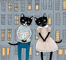 Cats First Date by Ryan Conners