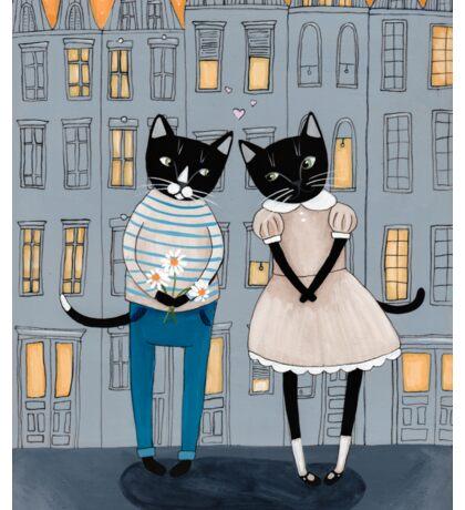 Cats First Date Sticker