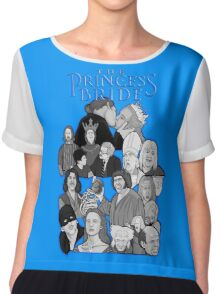 the Princess Bride character collage Chiffon Top
