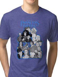 the Princess Bride character collage Tri-blend T-Shirt
