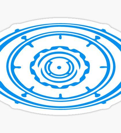 gear circular globe pattern design technology swirls cool futuristic Sticker