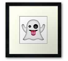 Ghost Emoji Framed Print