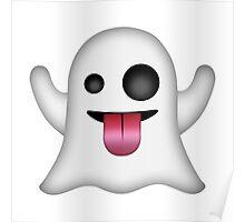 Ghost Emoji Poster