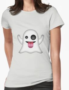 Ghost Emoji Womens Fitted T-Shirt