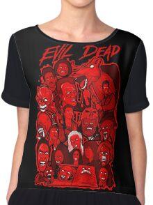 Evil Dead collage art Chiffon Top