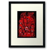 Evil Dead collage art Framed Print