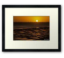 Tidal Pattern at Sunset Framed Print