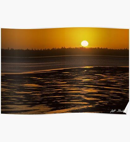 Tidal Pattern at Sunset Poster