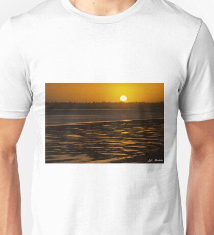 Tidal Pattern at Sunset Unisex T-Shirt