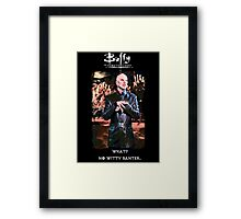 witty banter Framed Print