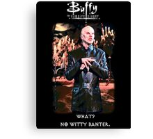 witty banter Canvas Print