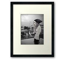 Smoke Girl Framed Print