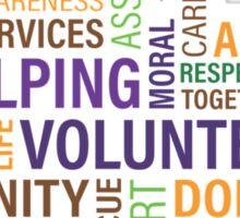 helping care volunteer donation Sticker