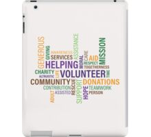 helping care volunteer donation iPad Case/Skin
