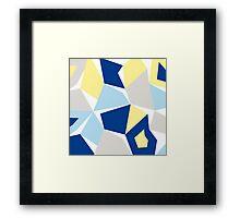 Moonshine cushion blue Framed Print
