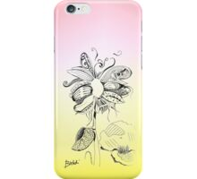 Flowerfly - White iPhone Case/Skin