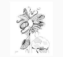 Flowerfly - White Unisex T-Shirt