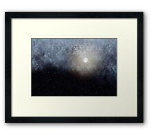 Glowing Moon in the night sky Framed Print