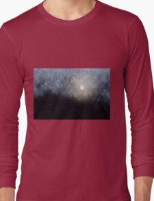 Glowing Moon in the night sky Long Sleeve T-Shirt