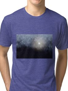 Glowing Moon in the night sky Tri-blend T-Shirt