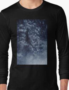 Blue veiled moon II Long Sleeve T-Shirt