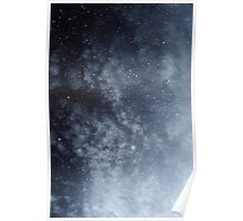 Blue veiled moon Poster