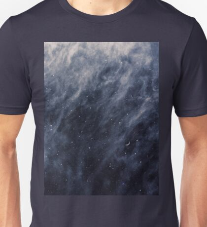 Blue Clouds, Blue Moon Unisex T-Shirt