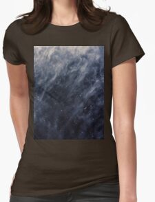 Blue Clouds, Blue Moon Womens Fitted T-Shirt